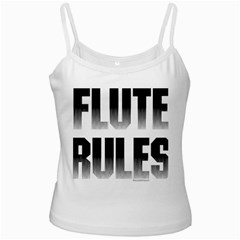 Flute Rules White Spaghetti Tank by NotJustshirts