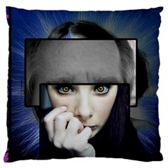 Fibro Brain Large Cushion Case (two Sided)  by FunWithFibro