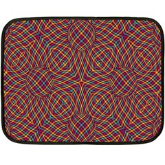 Trippy Tartan Mini Fleece Blanket (two Sided) by SaraThePixelPixie
