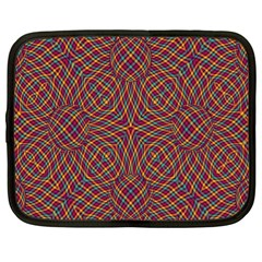 Trippy Tartan Netbook Sleeve (xl) by SaraThePixelPixie
