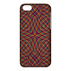 Trippy Tartan Apple Iphone 5c Hardshell Case by SaraThePixelPixie