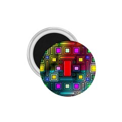 Abstract Modern 1 75  Button Magnet by StuffOrSomething