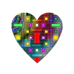 Abstract Modern Magnet (heart) by StuffOrSomething