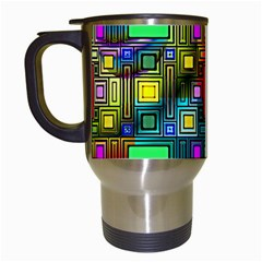 Abstract Modern Travel Mug (white) by StuffOrSomething