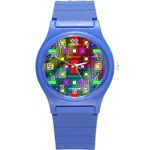 Abstract Modern Plastic Sport Watch (Small) Front