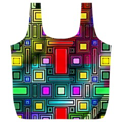 Abstract Modern Reusable Bag (xl) by StuffOrSomething