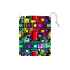 Abstract Modern Drawstring Pouch (small) by StuffOrSomething