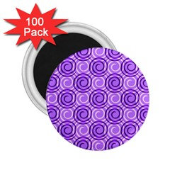Purple And White Swirls Background 2 25  Button Magnet (100 Pack)