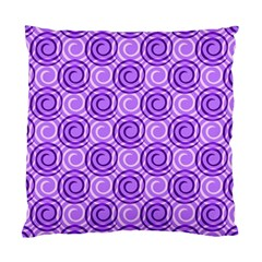 Purple And White Swirls Background Cushion Case (single Sided)  by Colorfulart23
