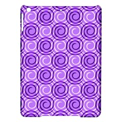 Purple And White Swirls Background Apple Ipad Air Hardshell Case by Colorfulart23
