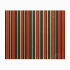 Festive Stripe Glasses Cloth (small, Two Sided) by Colorfulart23