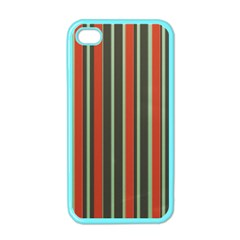 Festive Stripe Apple Iphone 4 Case (color) by Colorfulart23