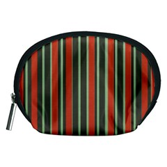 Festive Stripe Accessory Pouch (medium) by Colorfulart23