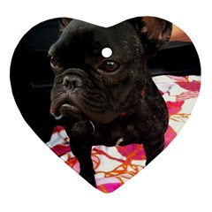 French Bulldog Sitting Heart Ornament (two Sides) by StuffOrSomething