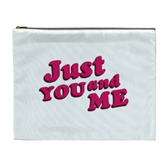 Just You And Me Typographic Statement Design Cosmetic Bag (xl) by dflcprints