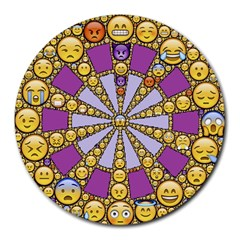 Circle Of Emotions 8  Mouse Pad (round) by FunWithFibro