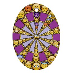 Circle Of Emotions Oval Ornament by FunWithFibro