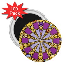 Circle Of Emotions 2 25  Button Magnet (100 Pack) by FunWithFibro