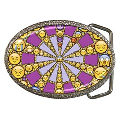 Circle Of Emotions Belt Buckle (oval) by FunWithFibro