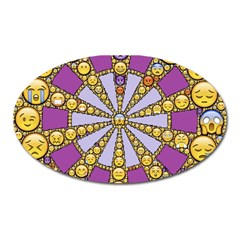 Circle Of Emotions Magnet (oval) by FunWithFibro