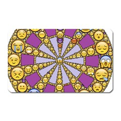 Circle Of Emotions Magnet (rectangular) by FunWithFibro
