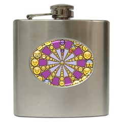 Circle Of Emotions Hip Flask by FunWithFibro