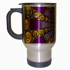 Circle Of Emotions Travel Mug (silver Gray) by FunWithFibro