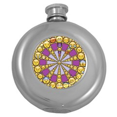 Circle Of Emotions Hip Flask (round) by FunWithFibro
