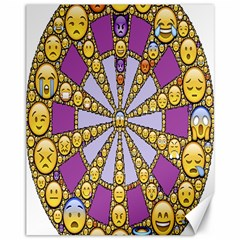 Circle Of Emotions Canvas 11  X 14  (unframed) by FunWithFibro