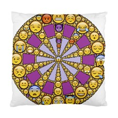 Circle Of Emotions Cushion Case (two Sided)  by FunWithFibro