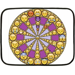 Circle Of Emotions Mini Fleece Blanket (two Sided) by FunWithFibro