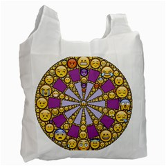 Circle Of Emotions White Reusable Bag (one Side) by FunWithFibro