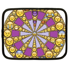 Circle Of Emotions Netbook Sleeve (xl) by FunWithFibro