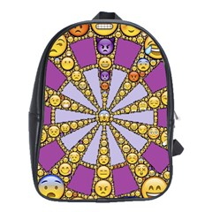 Circle Of Emotions School Bag (xl) by FunWithFibro