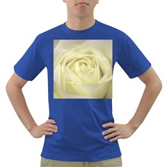 Cream Rose Men s T-shirt (colored) by Colorfulart23