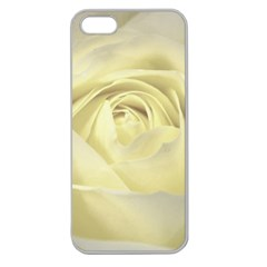 Cream Rose Apple Seamless Iphone 5 Case (clear) by Colorfulart23