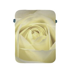 Cream Rose Apple Ipad Protective Sleeve by Colorfulart23