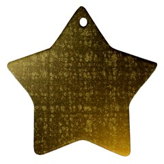 Gold Star Ornament by Colorfulart23