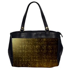 Gold Oversize Office Handbag (one Side) by Colorfulart23