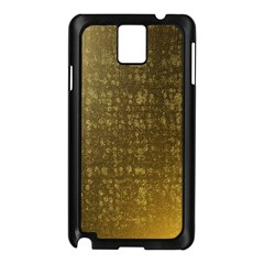 Gold Samsung Galaxy Note 3 N9005 Case (black) by Colorfulart23