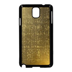Gold Samsung Galaxy Note 3 Neo Hardshell Case (black) by Colorfulart23
