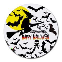 Happy Halloween Collage 8  Mouse Pad (round) by StuffOrSomething