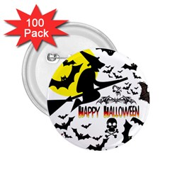 Happy Halloween Collage 2 25  Button (100 Pack)
