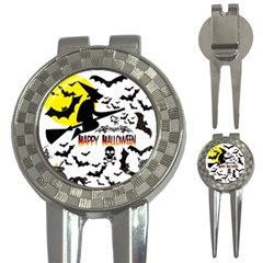 Happy Halloween Collage Golf Pitchfork & Ball Marker by StuffOrSomething