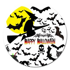 Happy Halloween Collage Magnet 5  (round) by StuffOrSomething
