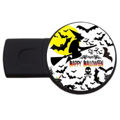 Happy Halloween Collage 4gb Usb Flash Drive (round) by StuffOrSomething