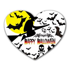 Happy Halloween Collage Mouse Pad (heart) by StuffOrSomething