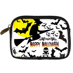Happy Halloween Collage Digital Camera Leather Case by StuffOrSomething