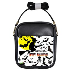 Happy Halloween Collage Girl s Sling Bag by StuffOrSomething