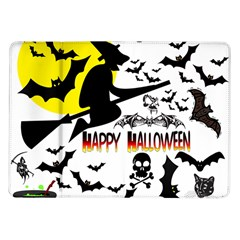 Happy Halloween Collage Samsung Galaxy Tab 10 1  P7500 Flip Case by StuffOrSomething